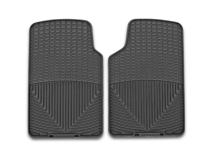 Weathertech All-Weather Front Rubber Floor Mats; Black (79-04 All)