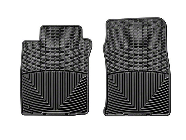 Weathertech All-Weather Front Rubber Floor Mats; Black (05-09 All)