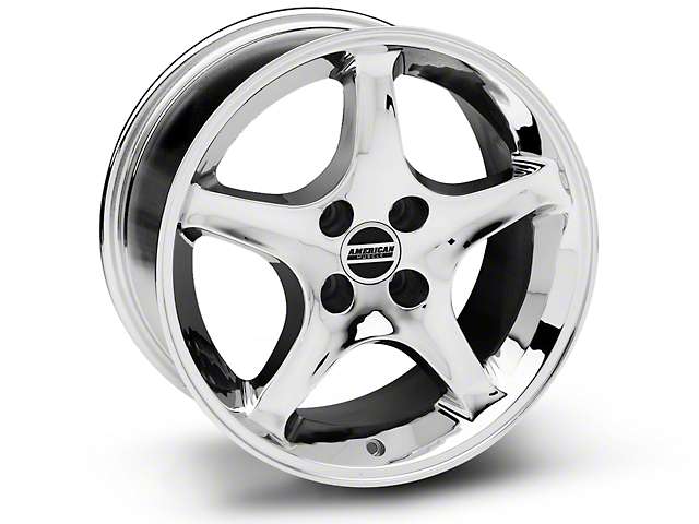1995 Cobra R Style Chrome Wheel - 17x9 (87-93 All, Excluding 1993 Cobra)