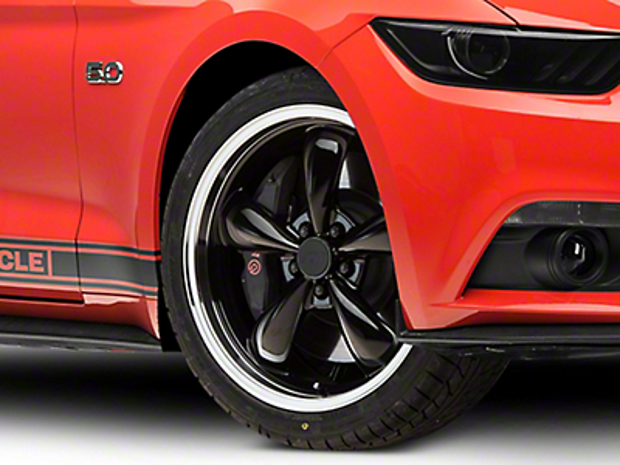 Deep Dish Bullitt Black Wheel - 20x8.5 (15-17 EcoBoost, V6)