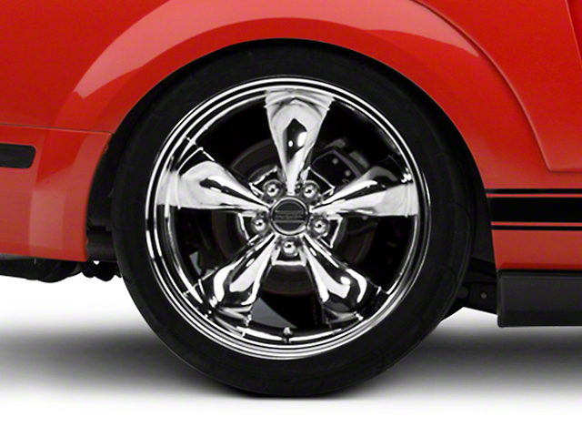 Deep Dish Bullitt Chrome Wheel; Rear Only; 20x10 (05-09 GT, V6)