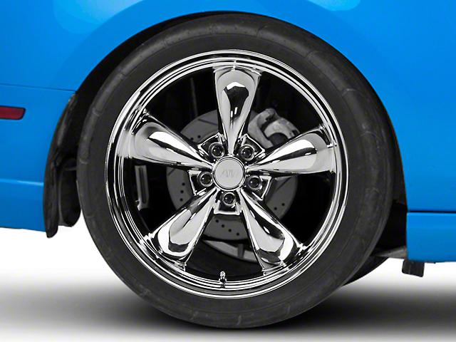 Deep Dish Bullitt Chrome Wheel; Rear Only; 20x10 (10-14 GT, V6)