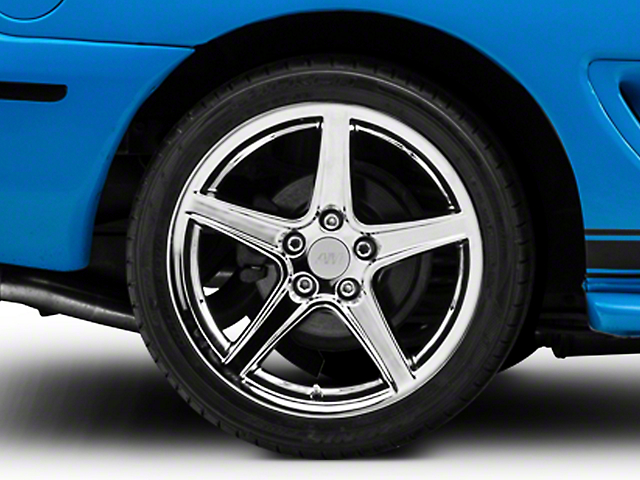 Saleen Style Chrome Wheel; Rear Only; 18x10 (94-98 All)