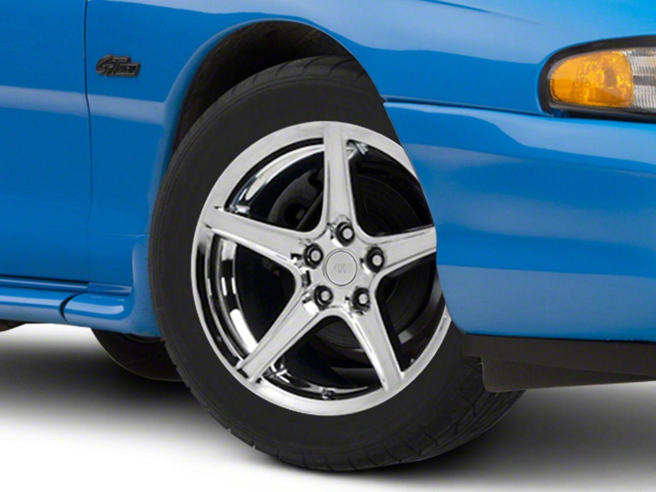 Add Saleen Style Chrome Wheel - 17x9 (94-04 All)