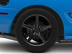 Saleen Style Black Wheel; Rear Only; 18x10 (94-98 All)