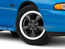 Staggered Bullitt Black 4 Wheel Kit; 17x9/10.5 (94-98 All)