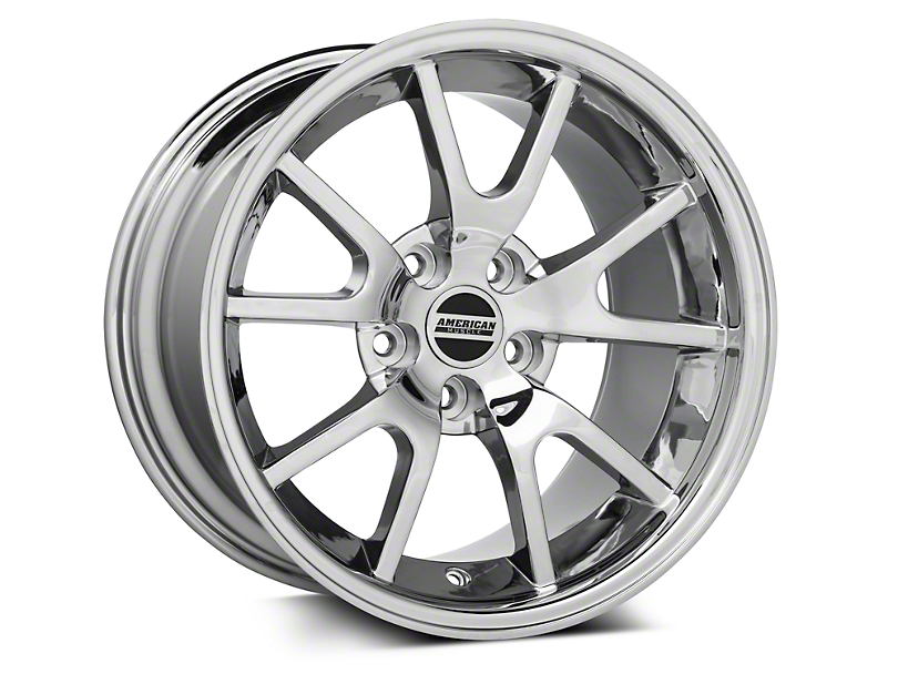 Deep Dish FR500 Style Chrome Wheel - 17x10.5 - Rear Only (94-98 All)