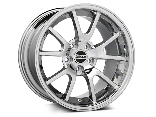 Deep Dish FR500 Style Chrome Wheel; 17x10.5; Rear Only (94-98 All)