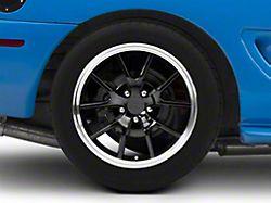 Deep Dish FR500 Style Black Wheel; Rear Only; 18x10 (94-98 All)
