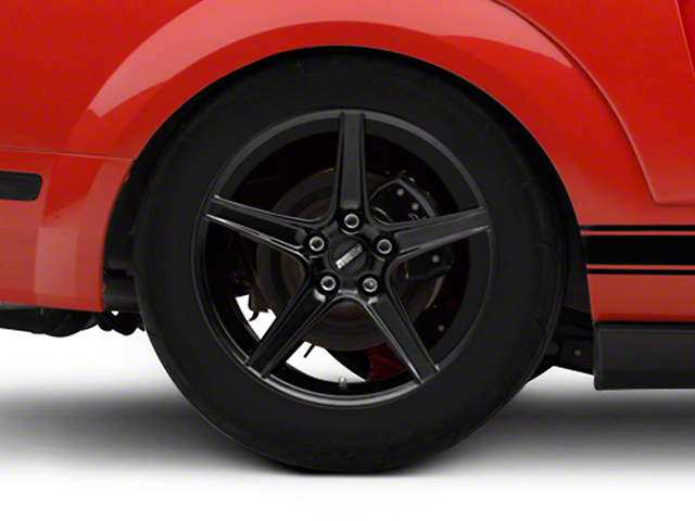 Saleen Style Black Wheel; Rear Only; 18x10 (05-09 GT, V6)