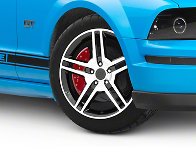 2010 GT500 Style Black Machined Wheel - 18x9 (05-14 All)