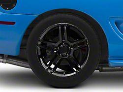 2010 GT500 Style Black Wheel; Rear Only; 18x10 (94-98 All)