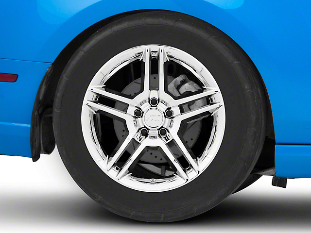 2010 GT500 Style Chrome Wheel; Rear Only; 18x10 (10-14 All, Excluding 13-14 GT500)