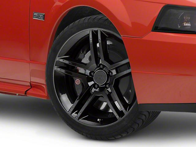 2010 GT500 Style Black Wheel; 19x8.5 (99-04 All)