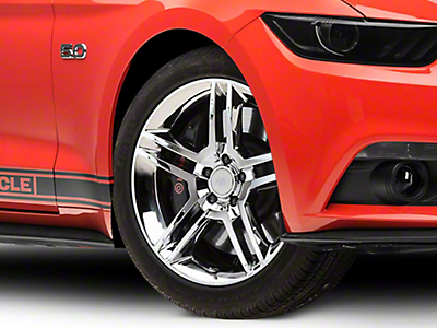 2010 GT500 Style Chrome Wheel - 19x8.5 (15-19 GT, EcoBoost, V6)