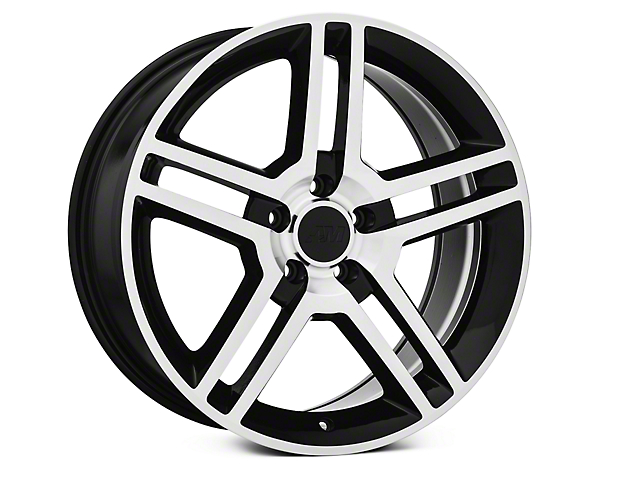 2010 GT500 Style Black Machined Wheel - 19x8.5 (05-14 All)