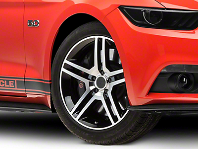 2010 GT500 Style Black Machined Wheel - 19x8.5 (15-18 All)