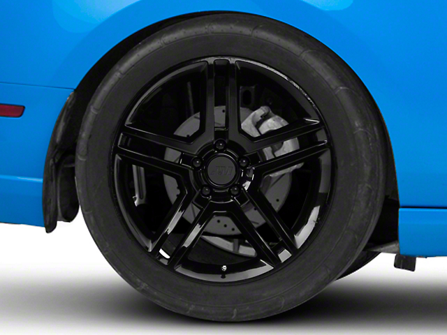 2010 GT500 Style Black Wheel; Rear Only; 19x10 (10-14 All)