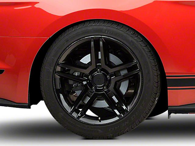 2010 GT500 Style Black Wheel - 19x10 - Rear Only (15-19 GT, EcoBoost, V6)