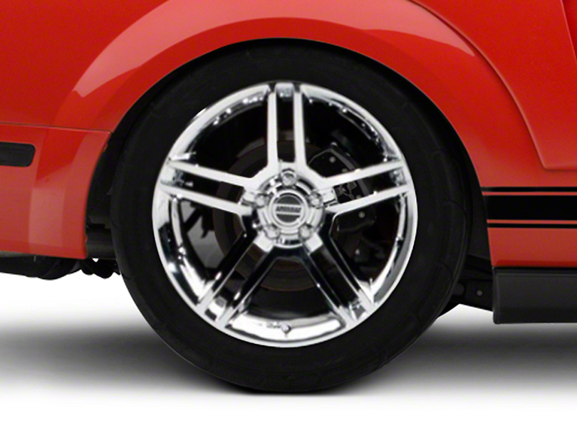 2010 GT500 Style Chrome Wheel - 19x10 - Rear Only (05-14 All)