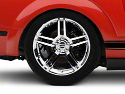 2010 GT500 Style Chrome Wheel; Rear Only; 19x10 (05-09 All)