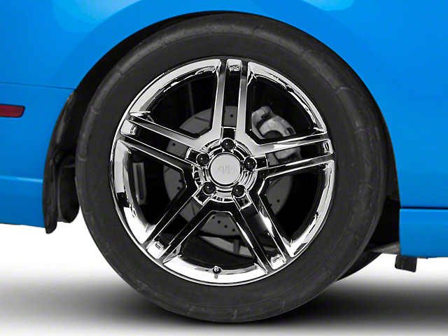 2010 GT500 Style Chrome Wheel; Rear Only; 19x10 (10-14 All)