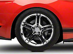 2010 GT500 Style Chrome Wheel; Rear Only; 19x10 (15-20 GT, EcoBoost, V6)