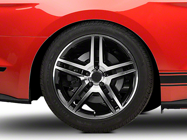 2010 GT500 Style Black Machined Wheel - 19x10 (15-18 GT, EcoBoost, V6)