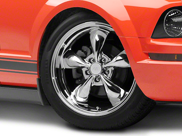 Deep Dish Bullitt Chrome Wheel; 19x8.5 (05-09 GT, V6)