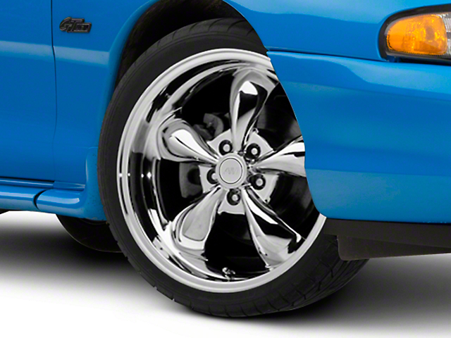 Deep Dish Bullitt Chrome Wheel; 19x8.5 (94-98 All)