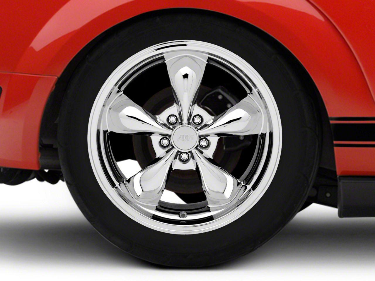 mustang deep dish bullitt chrome wheel 19x10 05 14 standard gt v6 Mustang Mach 2 Concept deep dish bullitt chrome wheel 19x10 rear only 05 14 standard gt