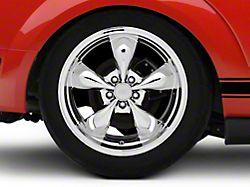 Deep Dish Bullitt Chrome Wheel; Rear Only; 19x10 (05-09 GT, V6)