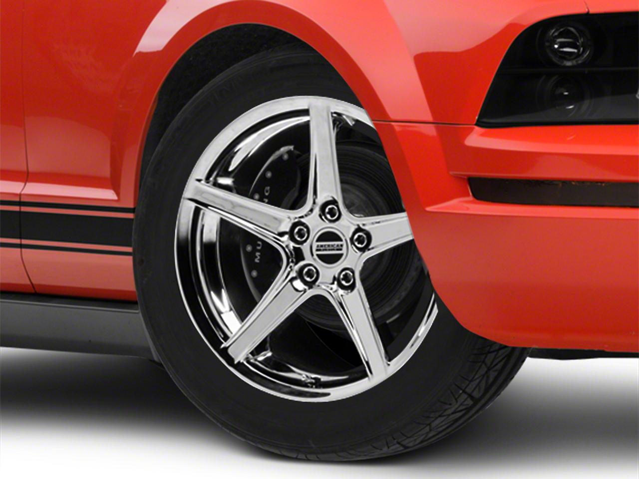 Saleen Style Chrome Wheel - 18x9 (05-14 GT, V6)