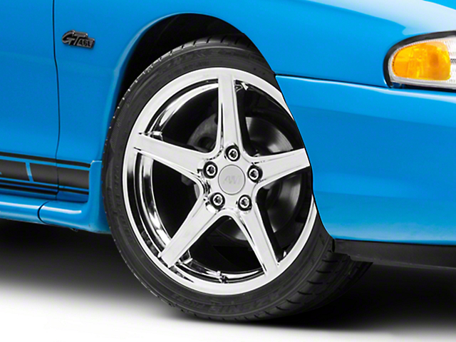 Staggered Saleen Style Chrome 4 Wheel Kit - 18x9/10 (94-98 All)