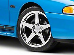 Staggered Saleen Style Chrome 4 Wheel Kit; 18x9/10 (94-98 All)