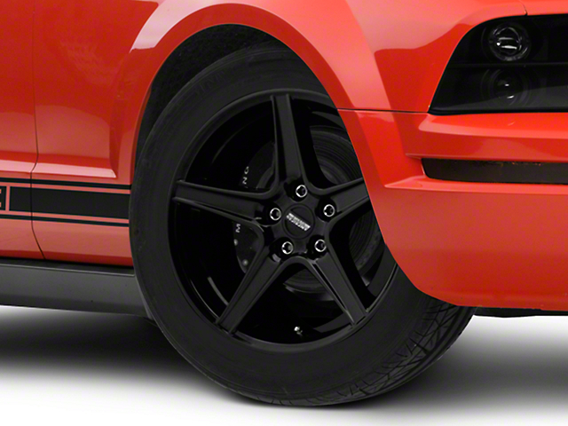 Saleen Style Black Wheel; 18x9 (05-09 GT, V6)