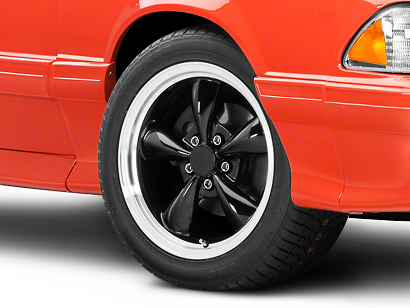 Bullitt Black Wheel - 17x9 (87-93 w/ 5 Lug Conversion)
