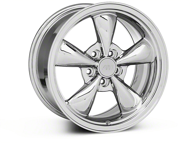 Bullitt Chrome Wheel - 17x9 (87-93 w/ 5 Lug Conversion)