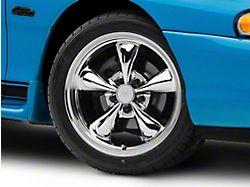 Staggered Bullitt Chrome 4 Wheel Kit; 17x9/10.5 (94-98 All)