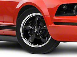 Deep Dish Bullitt Black Wheel; 18x9 (05-09 GT, V6)