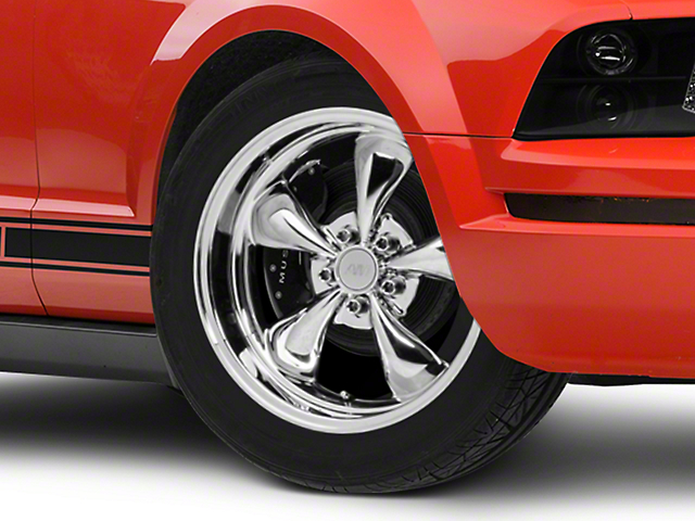 Deep Dish Bullitt Chrome Wheel; 18x9 (05-09 GT, V6)