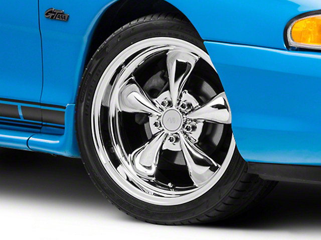 Deep Dish Bullitt Chrome Wheel; 18x9 (94-98 All)