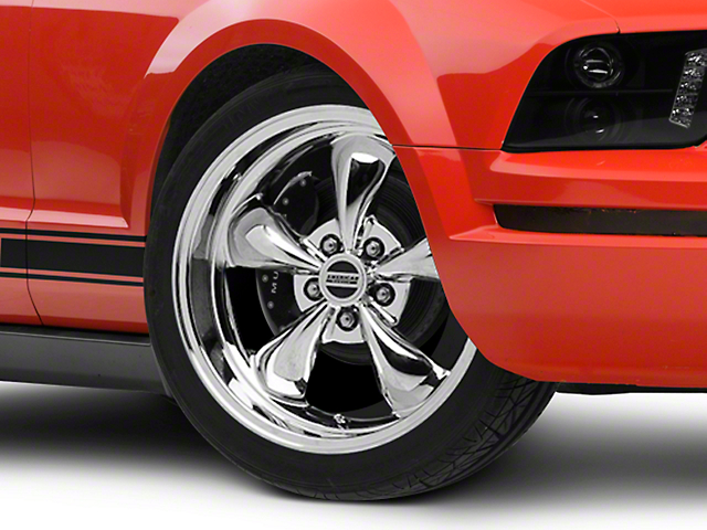 Deep Dish Bullitt Chrome Wheel - 18x10 - Rear Only (05-09 GT, V6)
