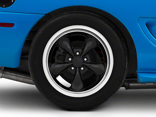 Deep Dish Bullitt Black Wheel; Rear Only; 18x10 (94-98 All)