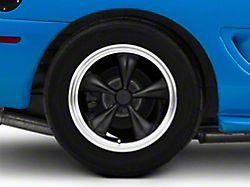Bullitt Deep Dish Matte Black Wheel; Rear Only; 17x10.5 (94-98 All)