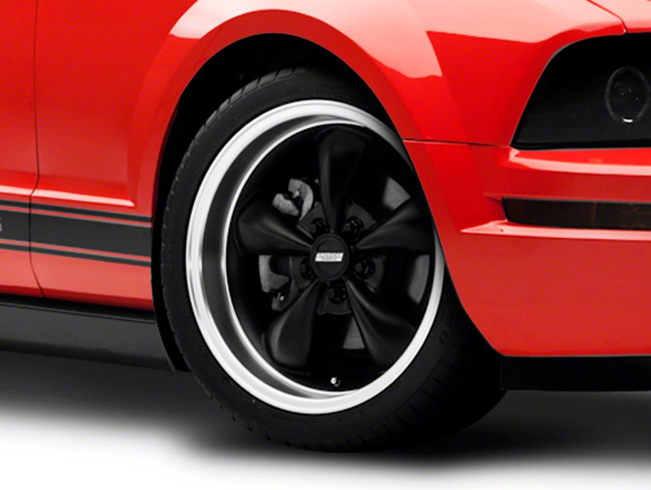 Bullitt Deep Dish Matte Black Wheel - 18x9 (05-10 GT; 05-14 V6)