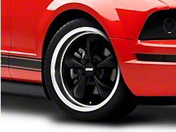 Bullitt Deep Dish Matte Black Wheel; 18x9 (05-09 GT, V6)
