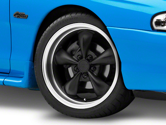 Bullitt Deep Dish Matte Black Wheel; 18x9 (94-98 All)