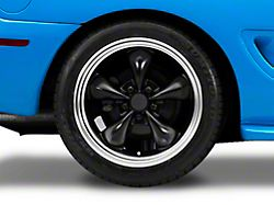 Bullitt Deep Dish Matte Black Wheel; Rear Only; 18x10 (94-98 All)