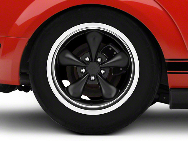 Bullitt Deep Dish Matte Black Wheel - 18x10 - Rear Only (05-14 Standard GT, V6)